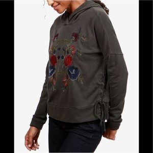 Tops - MWT Lucky Brand Embroidered Hoodie XL